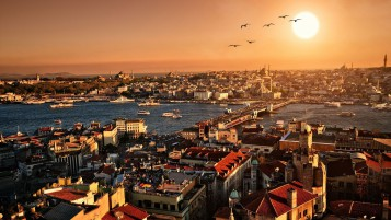 Estambul Vista de la ciudad wallpapers and stock photos