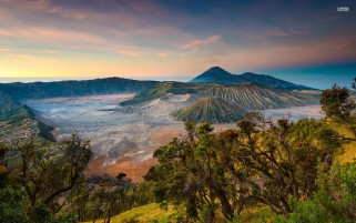 Mount Bromo Indonesia Asia wallpapers and stock photos