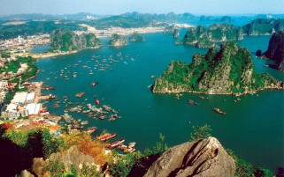 Pretty Vietnam Aerial View wallpapers and stock photos