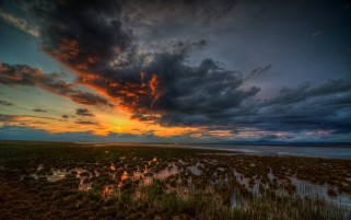 Random: Awesome Swamp Clouds Sunset