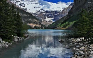 Lake Louise Alberta Canada wallpapers and stock photos