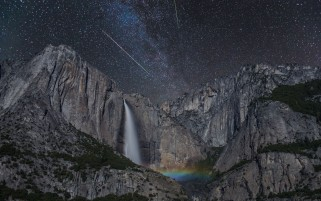 Unbelievable Night Yosemite wallpapers and stock photos