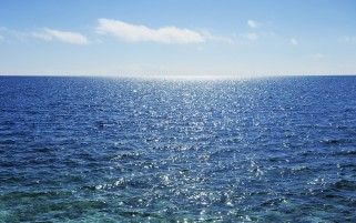 Splendid Blue Ocean Sunny Day wallpapers and stock photos