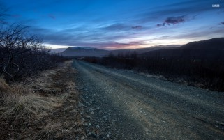 Road Through The Darkness wallpapers and stock photos