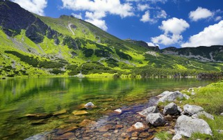Mountains Lake Rocks Poland wallpapers and stock photos