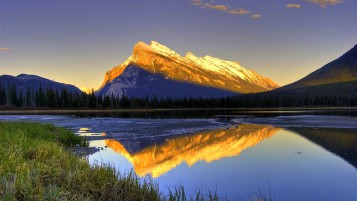 Golden Mountains Forest Lake wallpapers and stock photos