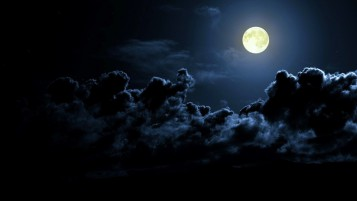 Dark Clouds & Full Moon wallpapers and stock photos
