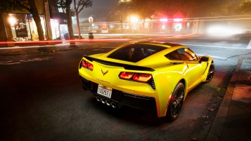 Yellow Chevrolet Corvette Stingray wallpapers and stock photos