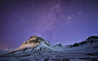 Random: Snow Mountains Milky Way Night