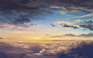 Above The Clouds Sunny Artwork wallpapers and stock photos