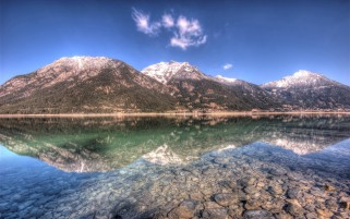 Mountains Crystal Clear Lake wallpapers and stock photos