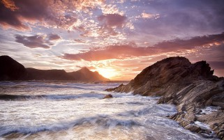 Previous: Wild Ocean Waves Rocks Sunset