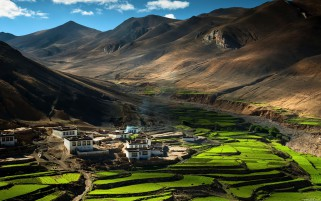 AgriCulture Himalaya Tibet wallpapers and stock photos