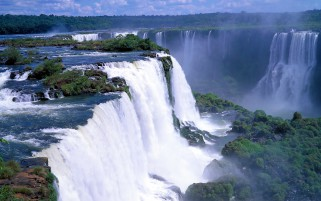 Stunning Iguazu Falls Brazil wallpapers and stock photos