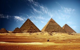 Pyramids Golden Desert Egypt wallpapers and stock photos