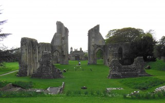 Glastonbury Abbey Monastery wallpapers and stock photos