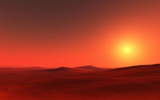Fire Red Desert & Sunset wallpapers and stock photos