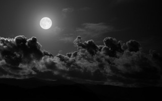 Black Clouds & Full Moon wallpapers and stock photos