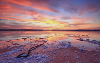 Ocean Coast Colorful Sky wallpapers and stock photos