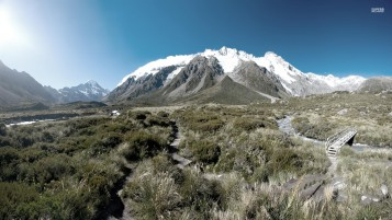 Pretty Mount Cook New Zealand wallpapers and stock photos