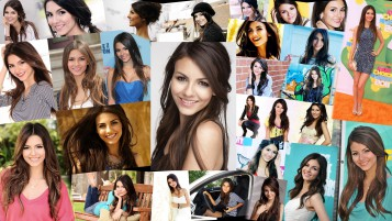 Victoria Justice Collage wallpapers and stock photos