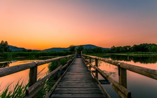 Wooden Bridge Eightteen wallpapers and stock photos