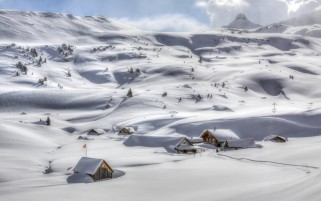 Wonderful White Valley Cabins wallpapers and stock photos