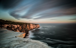 Dark Blue Ocean Cliffs Stormy wallpapers and stock photos