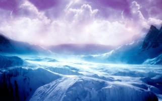 Blue Snow & Purple Sky wallpapers and stock photos