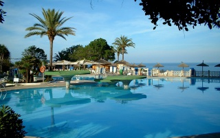 Spanien Urlaub Pool wallpapers and stock photos