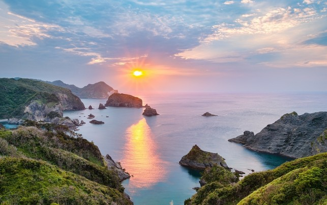Adorable Ocean Islands Sunset wallpapers and stock photos