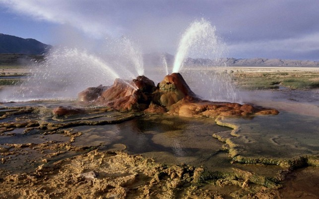 Fantastic Fly Geyser Nevada wallpapers and stock photos