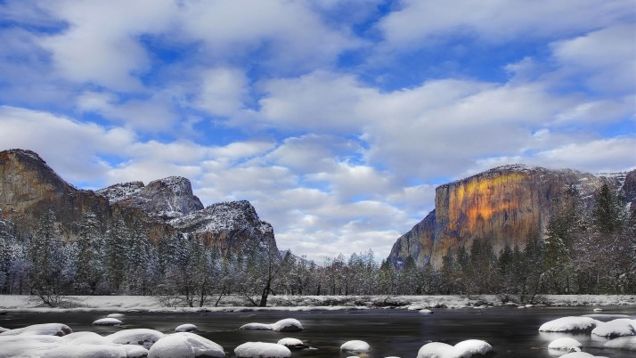 Yosemite National Park Winter wallpapers and stock photos