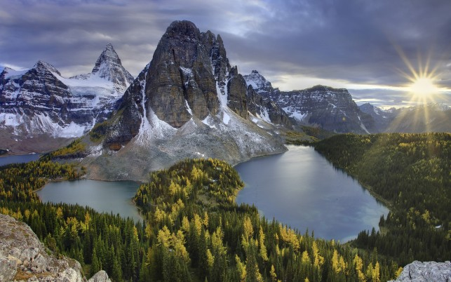 Nice Forest Lakes Peaks Sunny wallpapers and stock photos