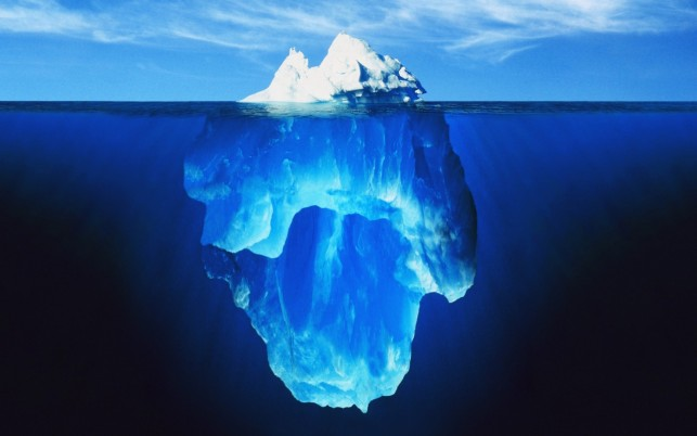 Deep Blue Ocean & Ice Berg wallpapers and stock photos