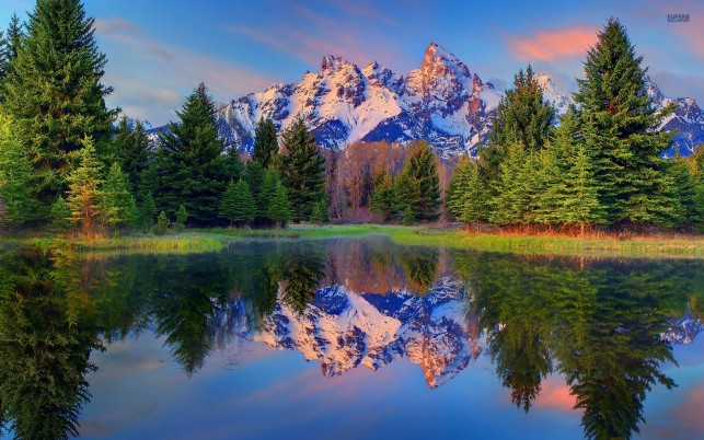 Frumos Grand Teton Wyoming wallpapers and stock photos