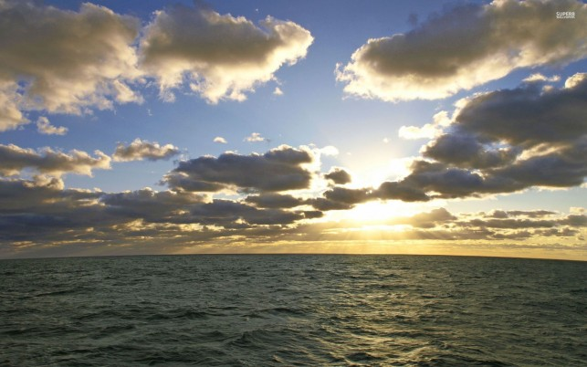Beautiful Ocean Clouds Sunny wallpapers and stock photos
