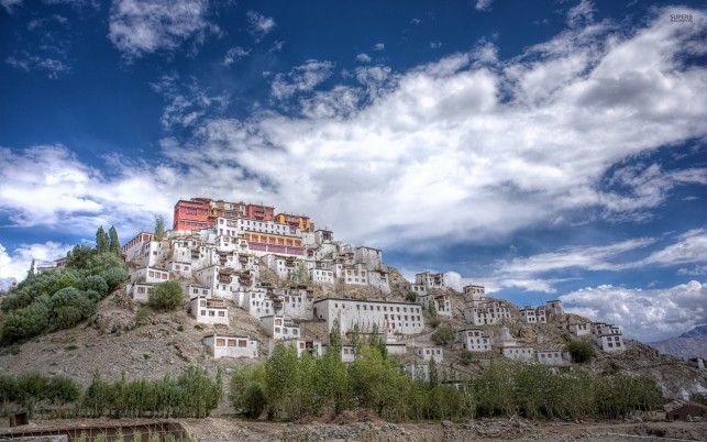 Thiksey Monastery India Asia wallpapers and stock photos