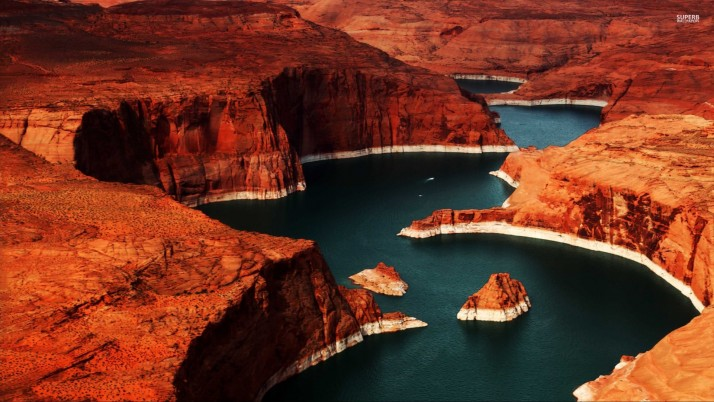 Lake Powell Colorado River wallpapers and stock photos