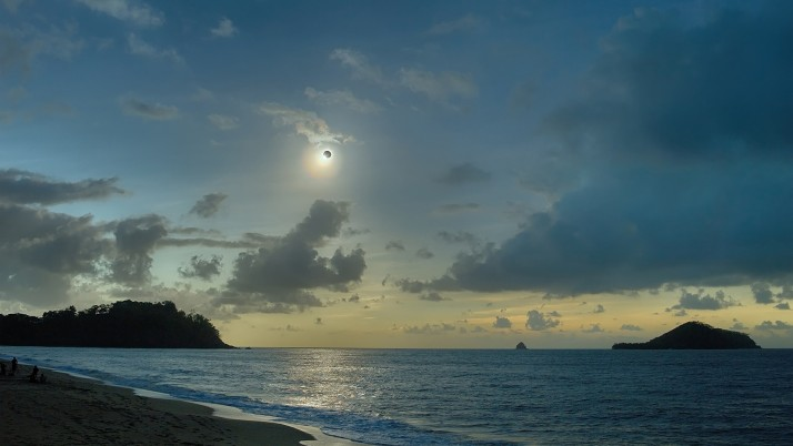 Beautiful Ocean Solar Eclipse wallpapers and stock photos