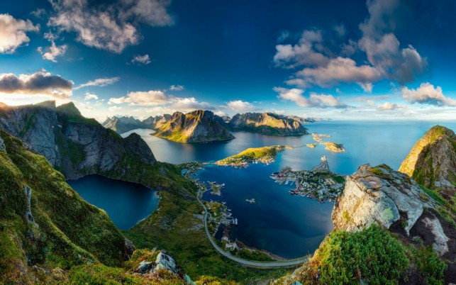 Reinebringen Norway Lookout wallpapers and stock photos