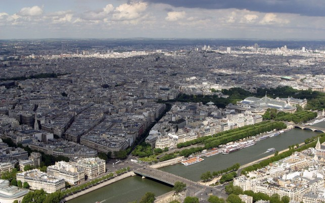 Paris France Aerial View wallpapers and stock photos