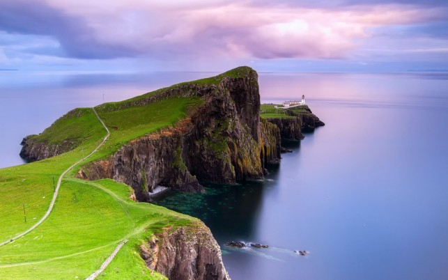Neist Point Light House One wallpapers and stock photos
