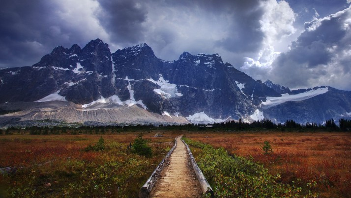 Tonquin Valley Alberta Canada wallpapers and stock photos