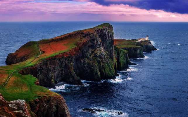 Neist Point Light House Two wallpapers and stock photos