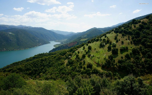 Random: Beautiful Green Hills & River