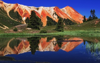 Red Mountains wallpapers and stock photos