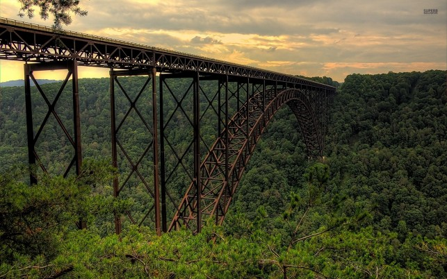 New River Gorge Bridge One wallpapers and stock photos