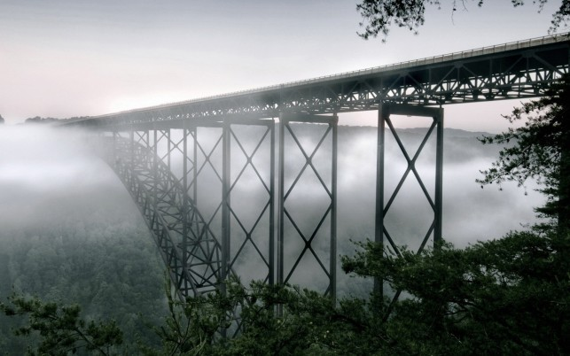 New River Gorge Bridge Two wallpapers and stock photos