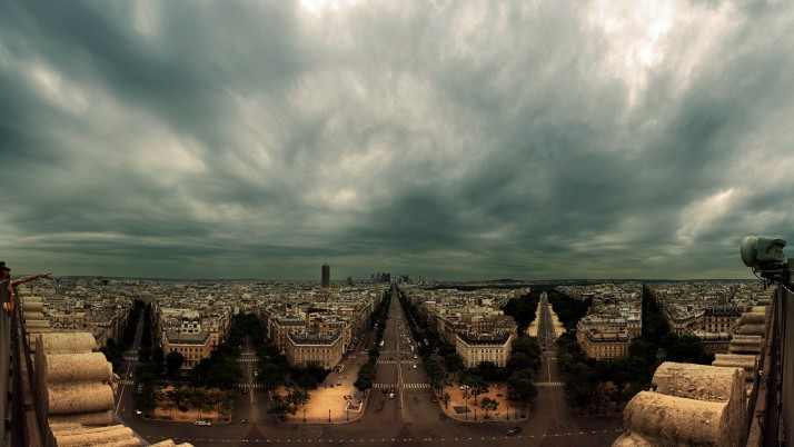 Champs Elysees Paris France wallpapers and stock photos